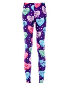 Elastic Casual Pants 3D Digital Printing Purple color of love Pattern Women Leggings 7 sizes Fitness Clothing Free Shipping