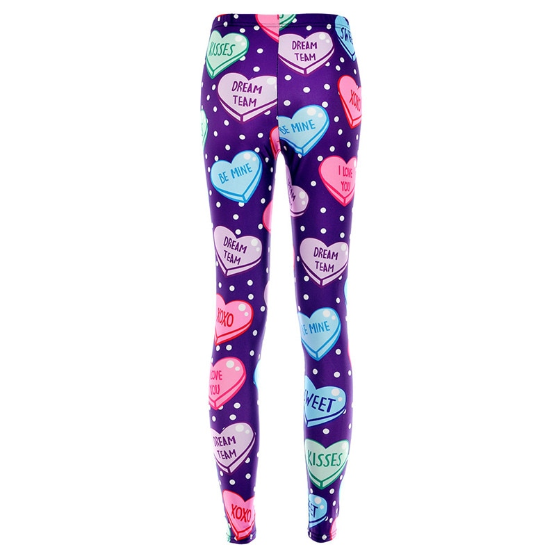 Elastic Casual Pants 3D Digital Printing Purple color of love Pattern Women Leggings 7 sizes Fitness Clothing Free Shipping 1