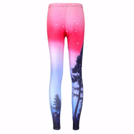 Drop ship S-4XL Hot Women Aurora Skye Neon Purple Leggings MIlk Leggings Galaxy leggings Plus Size girl Leggings 1