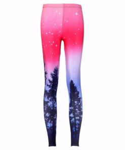 Drop ship S-4XL Hot Women Aurora Skye Neon Purple Leggings MIlk Leggings Galaxy leggings Plus Size girl Leggings