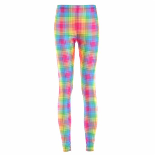 Fashion New arrival Hot Women New Pants Womens Trousers Fashion Colorful gradient grid leggings New Fitness Drop ship