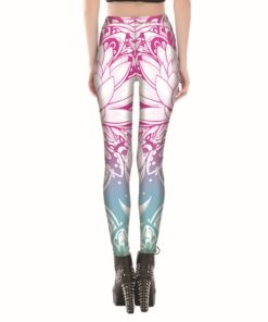 3D printed pink lotus flower harajuku gothic sexy plus size high waist push up fitness workout leggings women pants S-4XXXXL 1