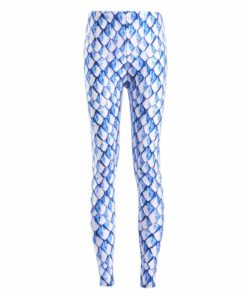 Leggings Spring Fashion Sexy Women Fitness Leggings New White blue scales Pant pencil Trousers Jeggings