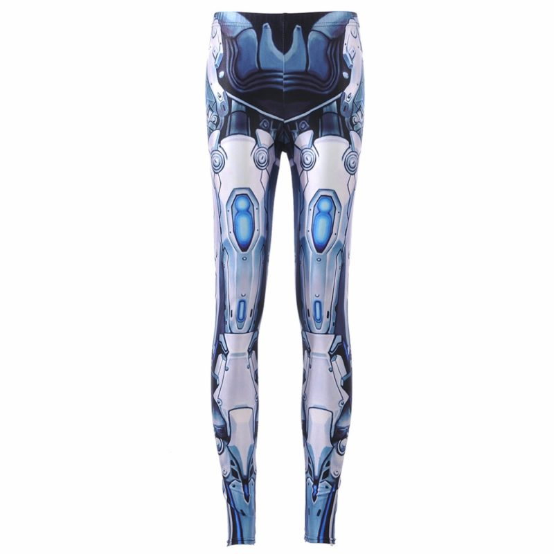 Leggings Machine New Women's Deformation Robot Armor Leggings Digital Print Pants Trousers Stretch Pants Drop Shipping