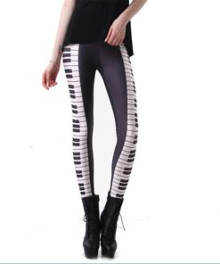 HOT SEXY! Women Legging PIANO KEYS LEGGINGS Women Digital Printing Pants Drop Shipping