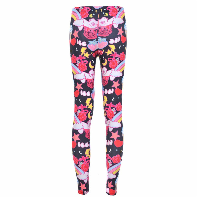 Drop Ship Fitness Legging Printed Women KAWAII-LEGGINGS Printed Leggins Digital Printing Fun Pant Fashion Girls Punk 1