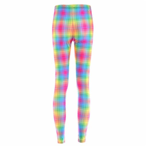 Fashion New arrival Hot Women New Pants Womens Trousers Fashion Colorful gradient grid leggings New Fitness Drop ship 1