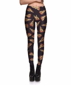 Leggings Fashion New Hot Women's Cake Sweet Pizza Tasty Leggings Digital Print Pants Trousers Stretch Pants Plus Size