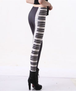 HOT SEXY! Women Legging PIANO KEYS LEGGINGS Women Digital Printing Pants Drop Shipping 1