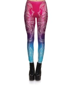 Leggings Fitness Women's Leggings Gorgeous Big Eyes Skeleton Face Stretch Digital Print Pencil Pants Trousers