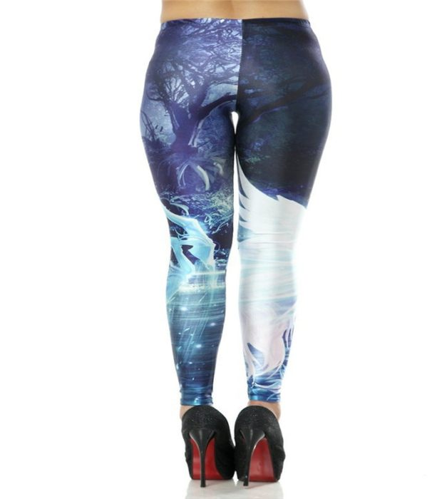fashion Digital Printing Holy Unicorns Leggings Pants Elastic Wholesale Free Shipping 1