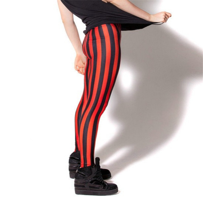 HOT Sexy Fashion Pirate Leggins Pants Digital Printing BEETLEJUICE RED LEGGINGS For Women 1