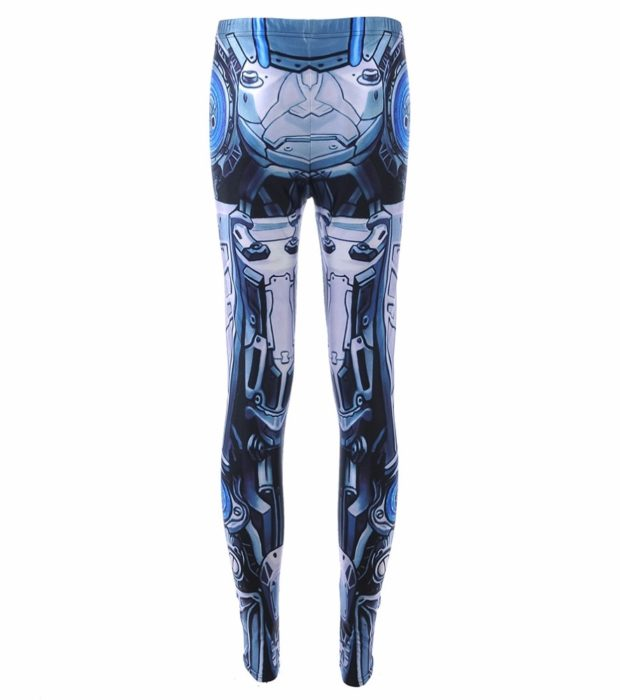 Leggings Machine New Women's Deformation Robot Armor Leggings Digital Print Pants Trousers Stretch Pants Drop Shipping 1
