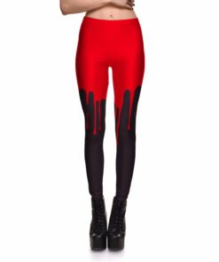 Leggings Hot Product New Women's Red&black Simple&Elegant Universe Leggings Digital Print Pants Trousers Stretch Pants