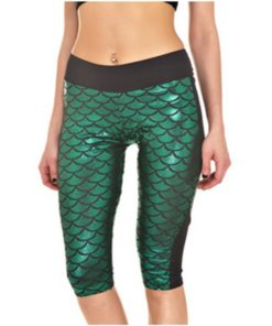 Mermaid Scale Pocket Capri - 8 Color 1