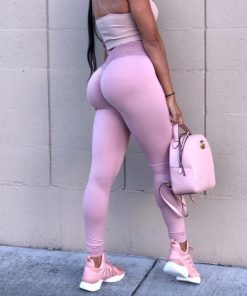 Booty Scrunched High Waist Solid Color